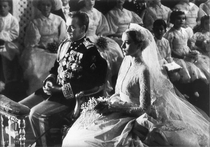 Grejs Keli i princ Renije III na venčanju