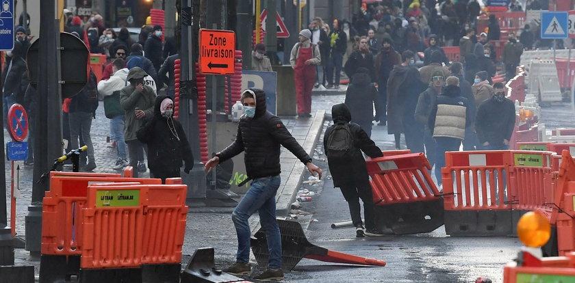 Zamieszki w Liege. Dziewięć osób rannych, zdemolowane sklepy