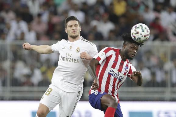 Luka Jović na meču Superkupa Španije između Reala i Atletika