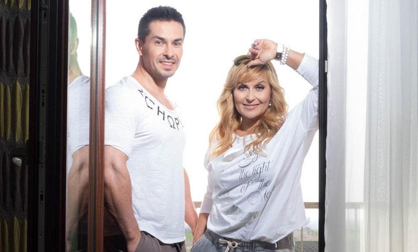 Katarzyna Skrzynecka z mężem Marcinem