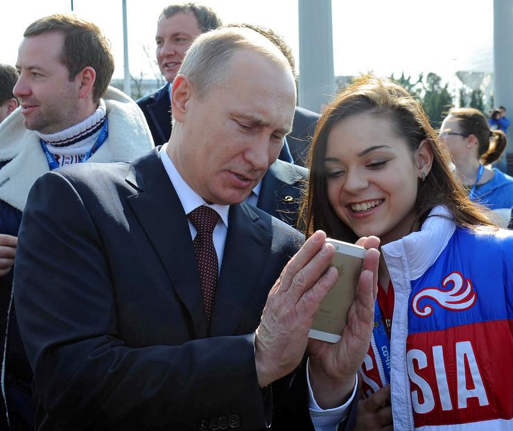 Vladimir Putin i Adelina Sotnikova
