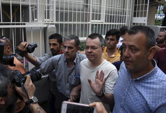 Brenson tokom hapšenja