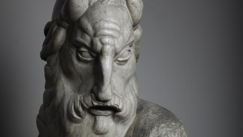Mojżesz, głowa, Rzym 1918, marmur