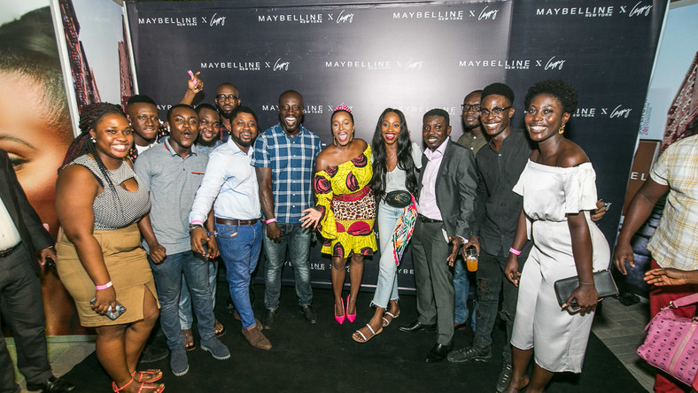 Maybelline and DJ Cuppy light up Accra with an exciting makeup event