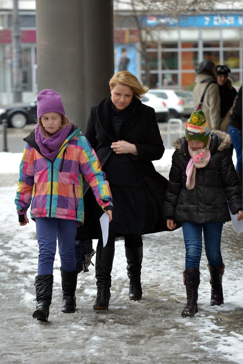 Katarzyna Bosacka z dziećmi