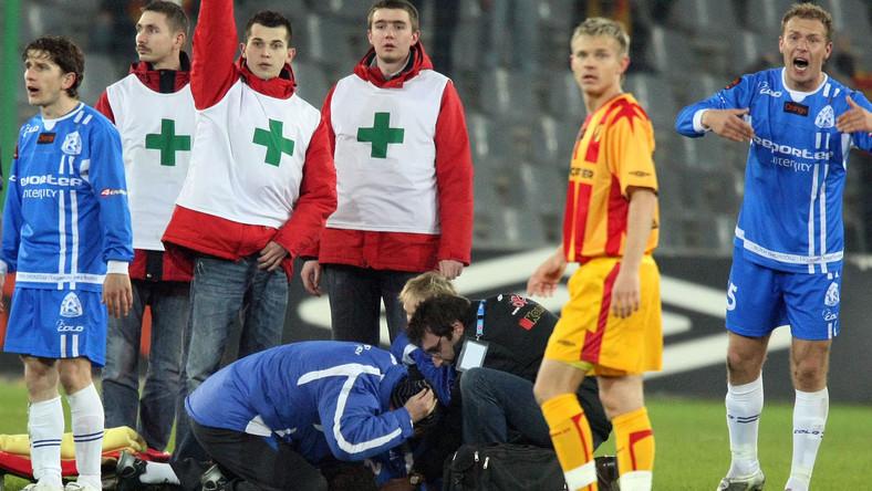 Krzysztof Nykiel musiał być reanimowany na boisku