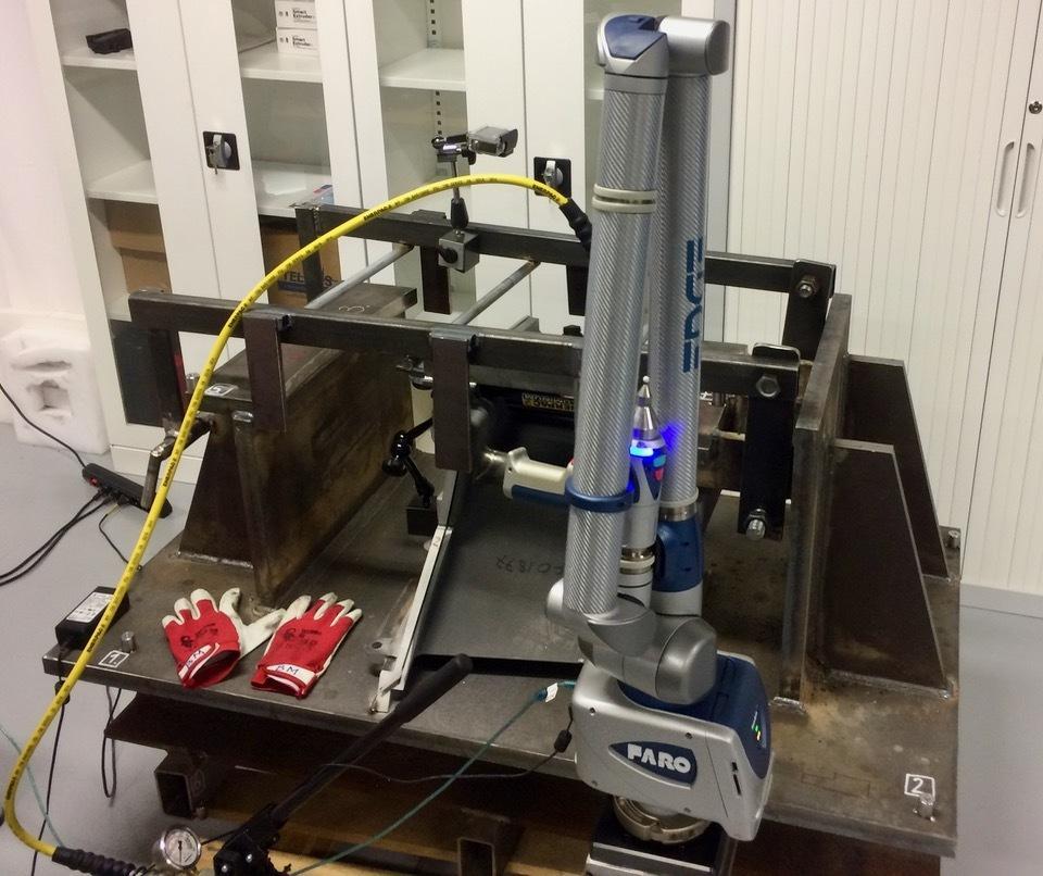 To ramię pomiarowe jest wykorzystywane do badań w jednym z laboratoriów Centrum Turbin Gazowych