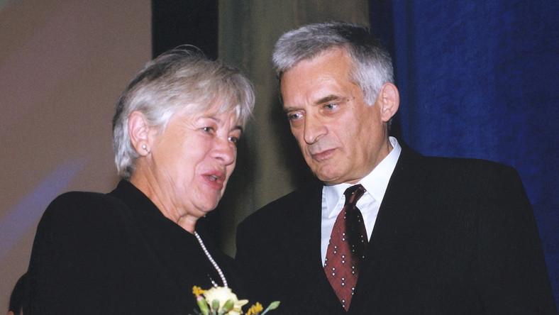 Magda Teresa Wójcik i Jerzy Buzek