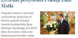 Bronisław Komorowski życzy mamom, by...