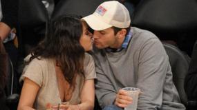 Mila Kunis i Ashton Kutcher wybrali się na mecz koszykówki. Córeczka została w domu