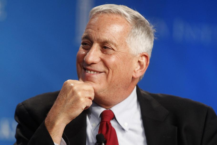 Walter Isaacson, president and CEO of the Aspen Institute, smiles during an event at the Milken Inst