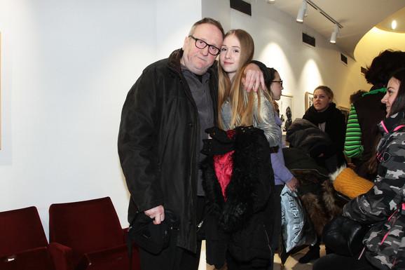 Bogdan Diklić sa ćerkom