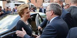 Prezydent Komorowski utknął w łódzkich korkach