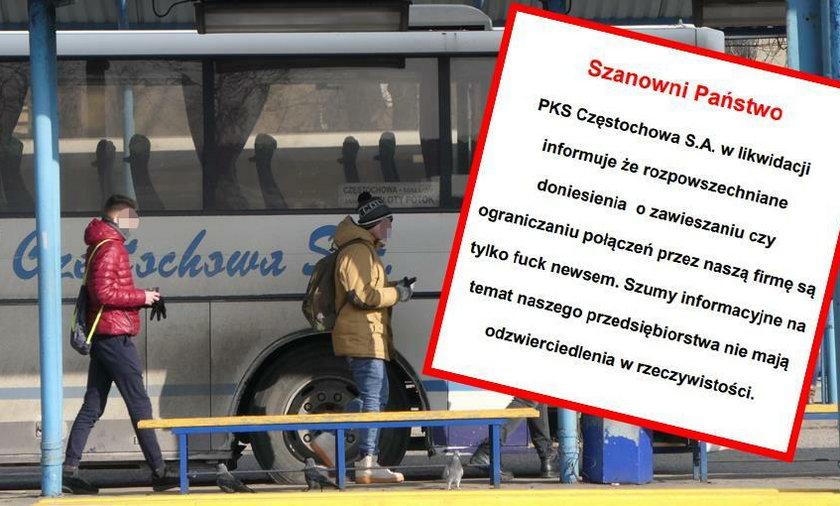 Wstydliwa wpadka PKS Częstochowa