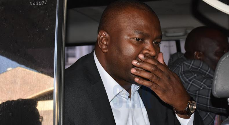 Former Sports CS Rashid Echesa arrested again, barely a month after arms scandal. Accused of fraudulently acquiring a Land Cruiser vehicle