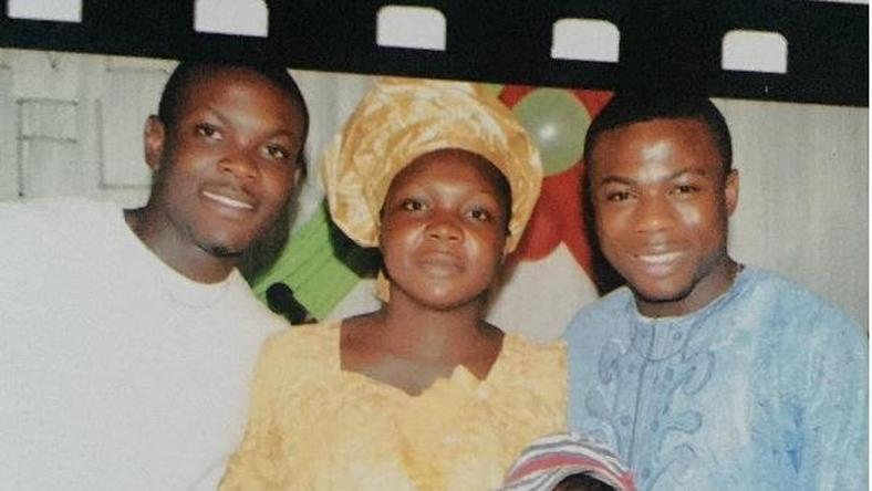 Moses Simon (left) with sister, Hauwa