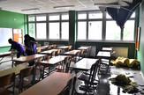 Novi Sad065 Osnovna skola Svetozar Markovic Toza obrusen plafon u ucionicama foto Nenad Mihajlovic