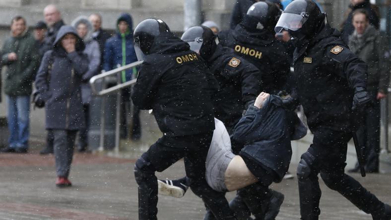 Protesty na Białorusi trwają od połowy lutego