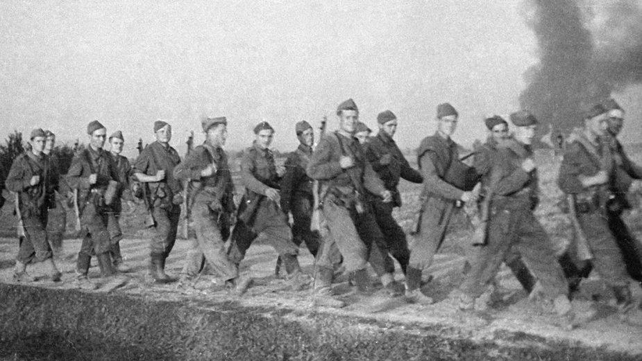 Żołnierze I Korpusu Armii Czechosłowackiej pod dowództwem generała Ludviga Svobody