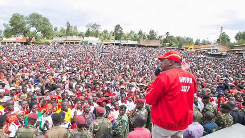 President Uhuru Kenyatta in Kisii on October 5, 2017. Peter Magara who was a member of Kisii professionals campaign lobby group was found dead outside his hotel room in Kisii on Saturday