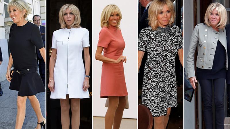 Brigitte Macron, żona prezydenta Francji i jej stylizacje