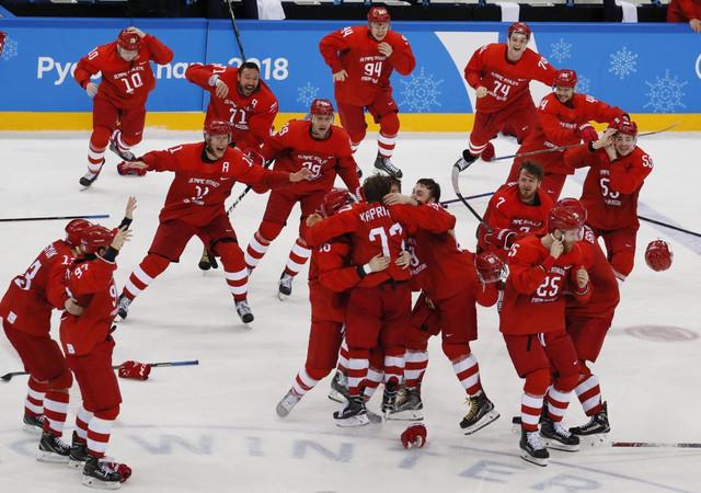 Slavlje ruskih hokejaša