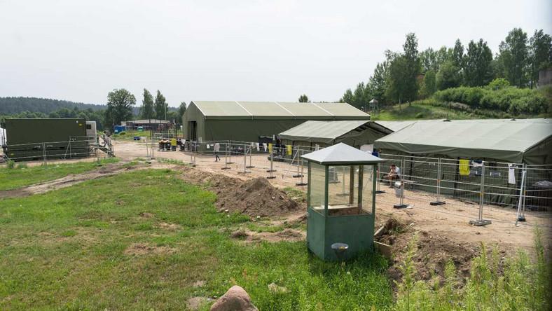 Ośrodek zatrzymań cudzoziemców na granicy Litwy z Białorusią