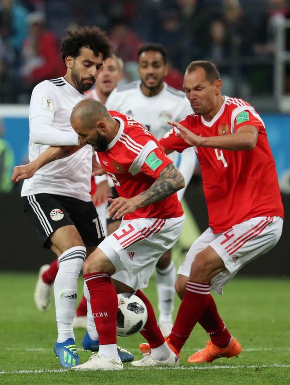 Mohamed Salah na duelu protiv Rusije