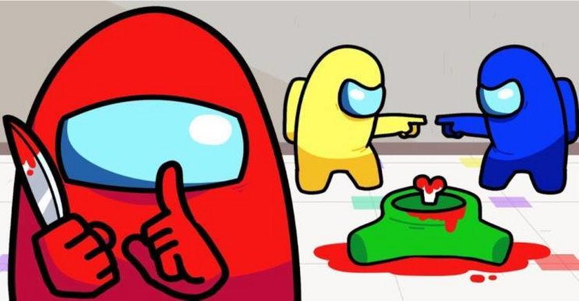 Tak wyglądają bohaterowie gry Among Us, bardzo popularnej wśród naszych siatkarzy.