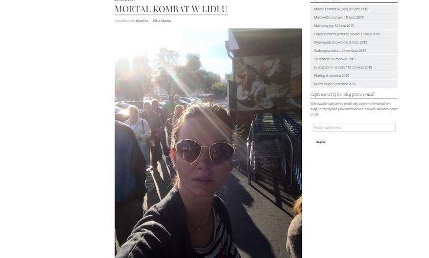 Karolina Malinowska walczyła o plecaczek w Lidlu