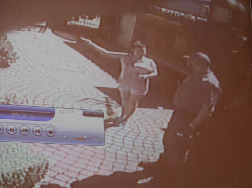 Film z monitoringu udostępniony przez Biuro Rutkowski