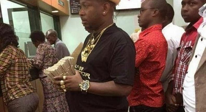 File image of Mike Sonko with a bundle of notes