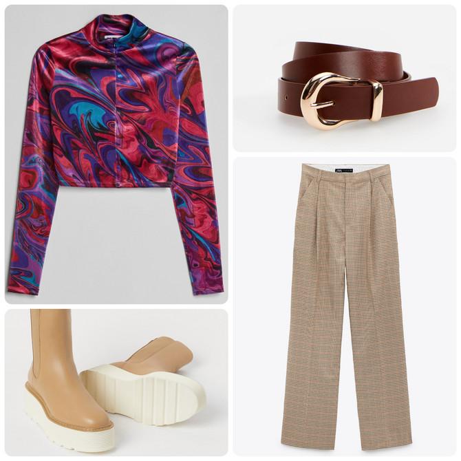 "Duks ""Bershka"", pantalone ""Zara"", kaiš ""Reserved"", duboke cipele ""H&M"""