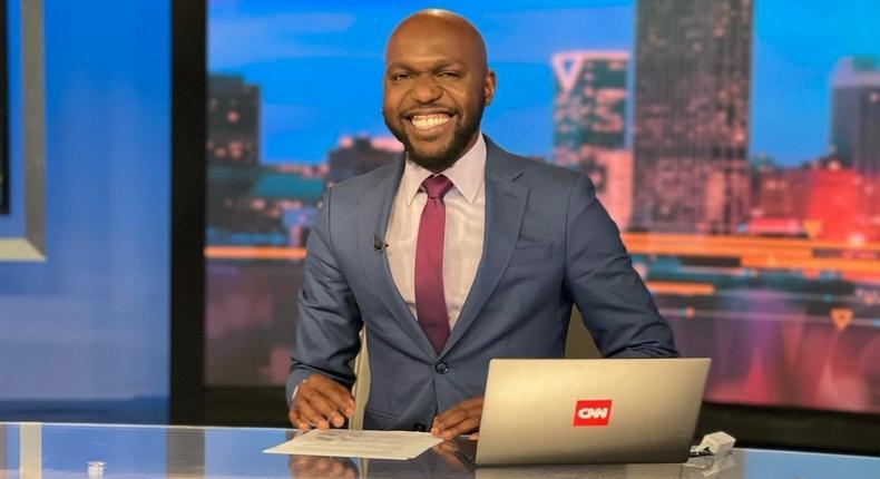 Larry Madowo at CNN studio