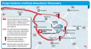 Obwodnica na pół gwizdka. Co dalej ze wschodnią częścią ringu wokół Warszawy?