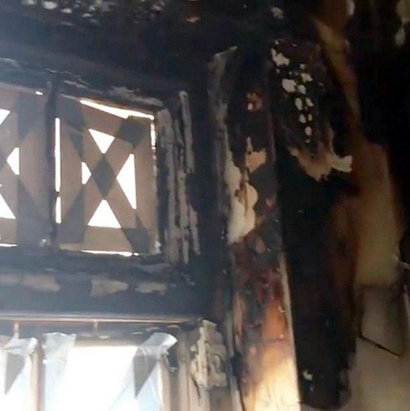 Pożar w mieszkaniu Joan Collins