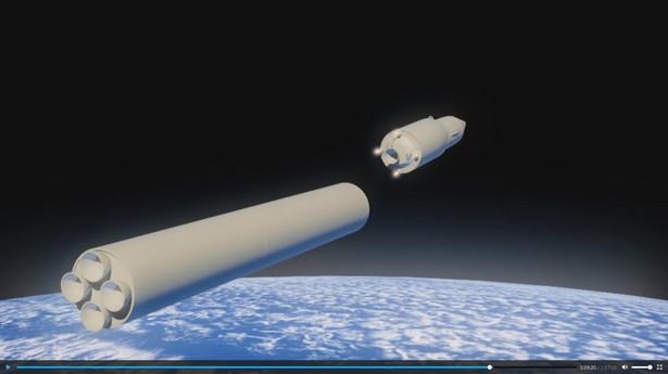 Ujęcie klatki pobrane z materiałów wideo z oficjalnej strony rosyjskiego prezydenta kremlin.ru pokazuje komputerową symulację hipersonicznych pocisków Awangard.