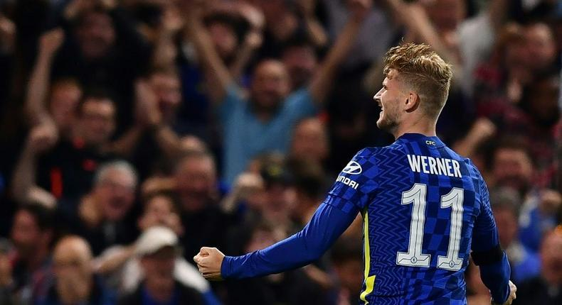 'It's good to be back on the scoresheet,' said Timo Werner after his goal against Aston Villa Creator: Ben STANSALL
