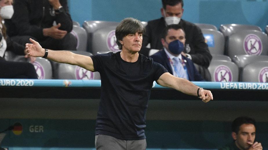 Jochim Loew w trakcie meczu z Francja - Niemcy