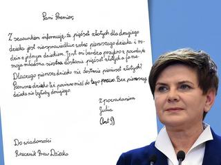 List do Beaty Szydło