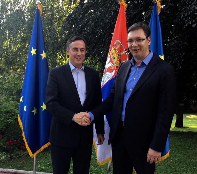 Aleksandar Vučić i Dejvid Mekalister