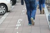 Oštećene staze za slepe u Beogradu