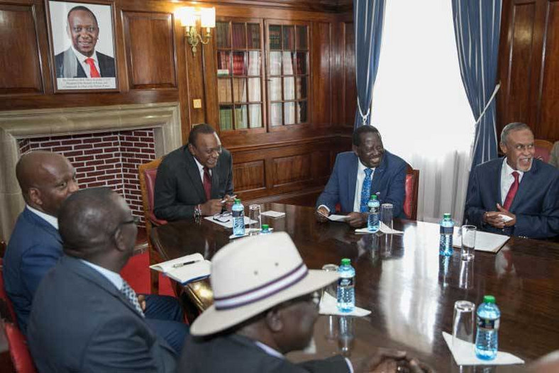 Building bridges taskforce with President Uhuru Kenyatta and former Prime Minister Raila Odinga