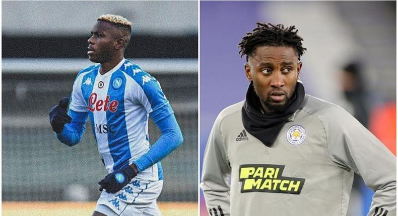 Victor Osimhen and Wilfred Ndidi have been included in a list of most-valuable football stars in the world  (Instagram)