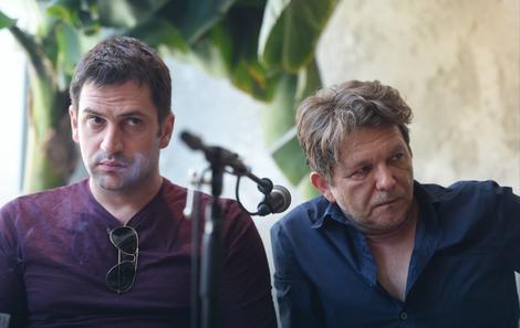 Goran Bogdan i Dragan Bjelogrlić na konferenciji za medije u Beogradu