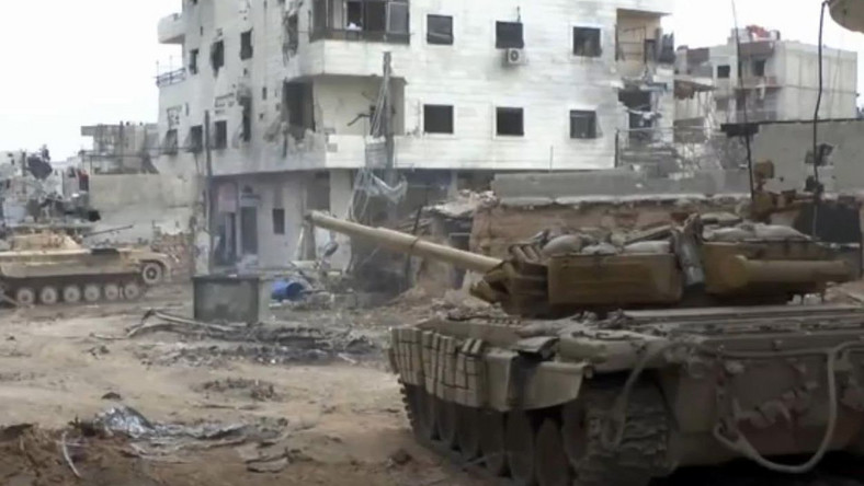 Czołg T-72 w Syrii. Walki w mieście