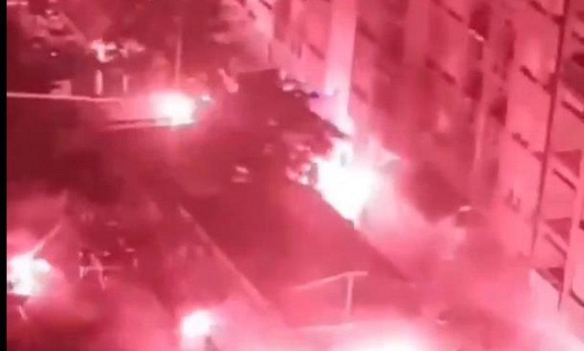 W Zagrzebiu doszło do przedmeczu z udziałem kiboli. Fani Legii i Dinama obrzucili się kamieniami i racami