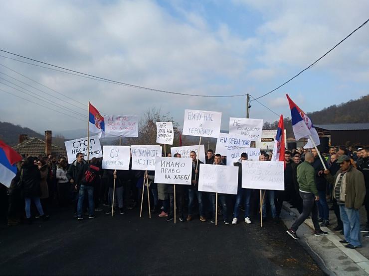 kosovo, rudare, protest