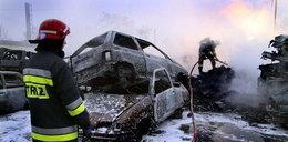 Pożar 50 samochodów!