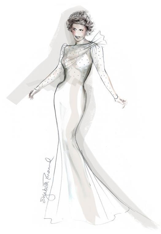 Эскиз платья принцессы Дианы